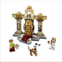 Scooby Doo Mystery series mummy museum building blocks assembled toys(China (Mainland))