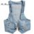 2016 Women's Fashion Washed Denim Vest Jeans Windproof Denim Sleeveless Jacket Crop Tops Waistcoat Tails Jeans Vest Hot sale