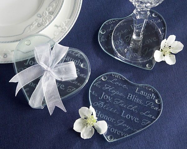 Wholesale Free Shipping AU +Heart Shaped Glass Coaster Set Coasters +400pcs/lot+glass cup mat(China (Mainland))