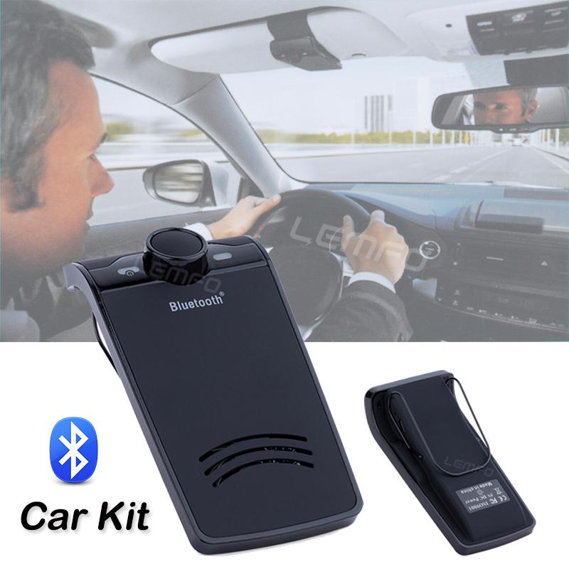 New Bluetooth 3.0 Car Kit Stereo Handsfree Calls Speakerphone FM transmitter Bluetooth Music Player High Quality(China (Mainland))