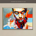 Hand Painted Popular Modern Painting Knife Head Portrait Work Abstract Wall Paintings Character Handsome Boy Paintings