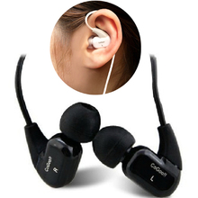 1pcs/lot Cogoo t02 in ear earphones sports earphones sound insulation earplugs mobile phone mp3 earphones free shipping
