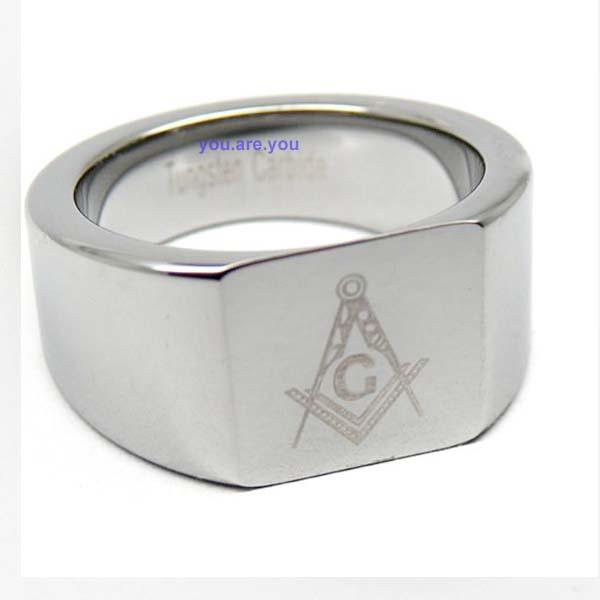 Freemason Rings Tungsten Tungsten Carbide Freemason