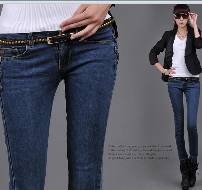 [DK Jeans] New Korean Women Breasted Gemale Slim E...