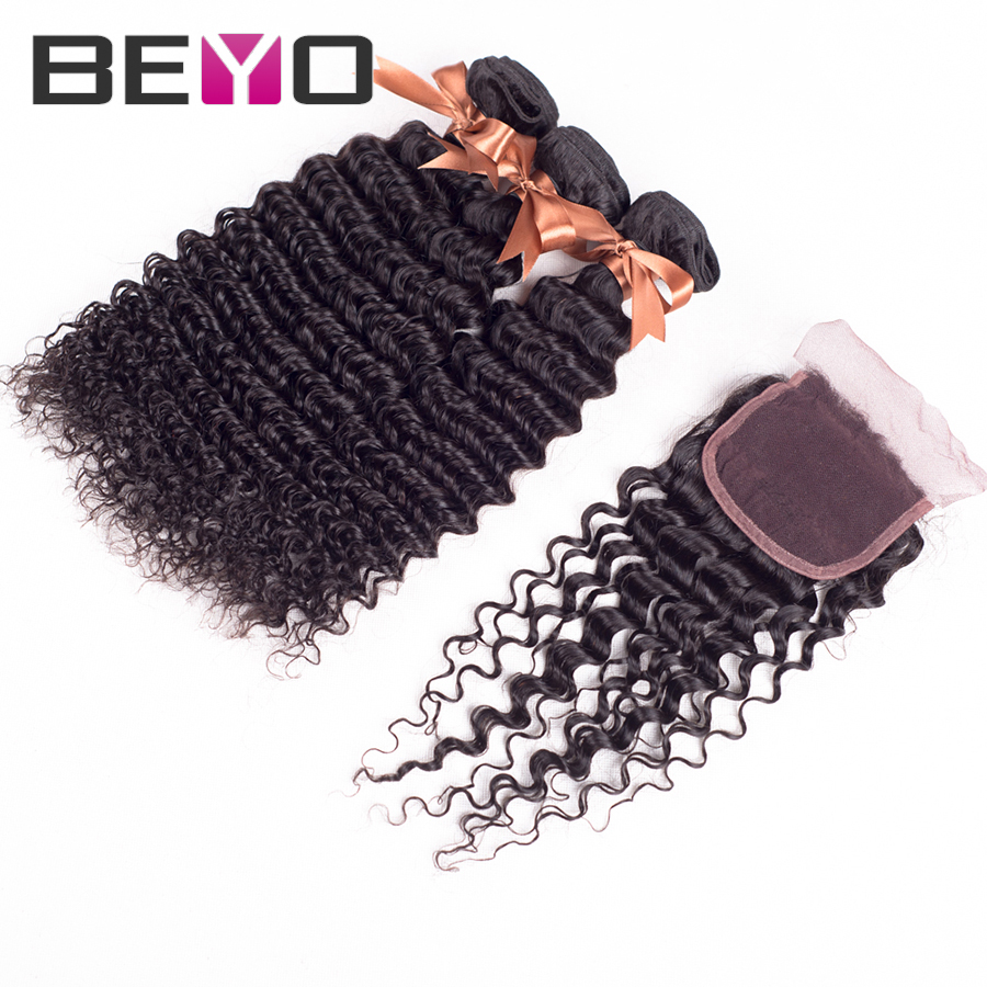 peruvian virgin hair deep curly with lace closure peruvian curly virgin hair cheap peruvian hair 3 pcs lot free shipping<br><br>Aliexpress