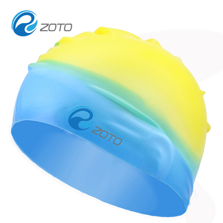 2016 New High Quality Durable Adult Soft 100% Silicone Swim Cap Anti-slip Waterproof Elastic Multi Color Swimming Hat(China (Mainland))