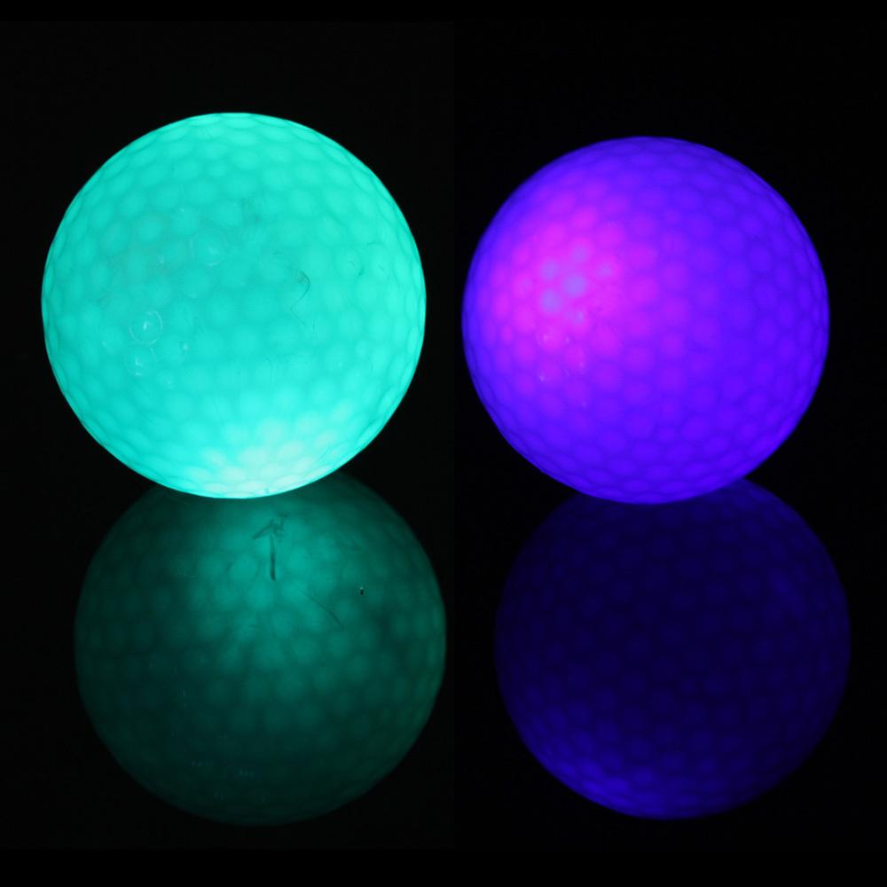 Free Shipping 2 pcs Flashing Electronic Golf Balls Night Golfing 1 Blue + 1 Green Good Quality 2015 Hot New(China (Mainland))