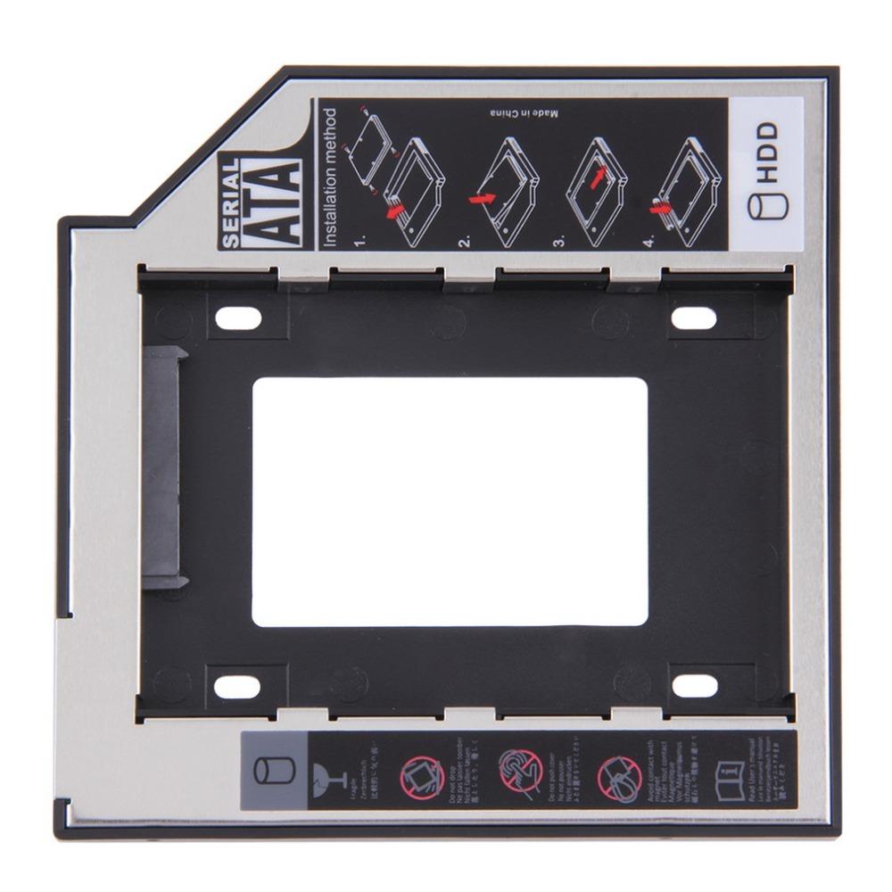Universal 2.5 2nd 9.5mm Ssd Hd SATA Hard Disk Drive HDD Caddy Adapter Bay For Cd Dvd Rom Optical Bay(China (Mainland))