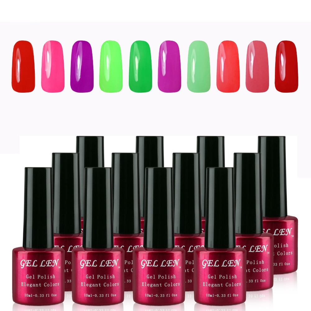Gel Len New serial 12 pc Color Gel Nail Art Polish UV LED Light Manicure Collection Set 240 color for choose drop shipping<br><br>Aliexpress