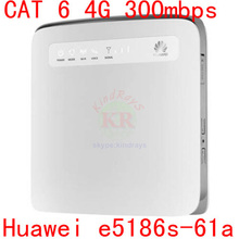 Cat6 300 Mbps desbloqueado Huawei E5186 E5186s-61a LTE cat4 4 g router 4 g LTE Mobile dongle FDD 700/1800 TDD 2300 Mhz pk b593 e5776