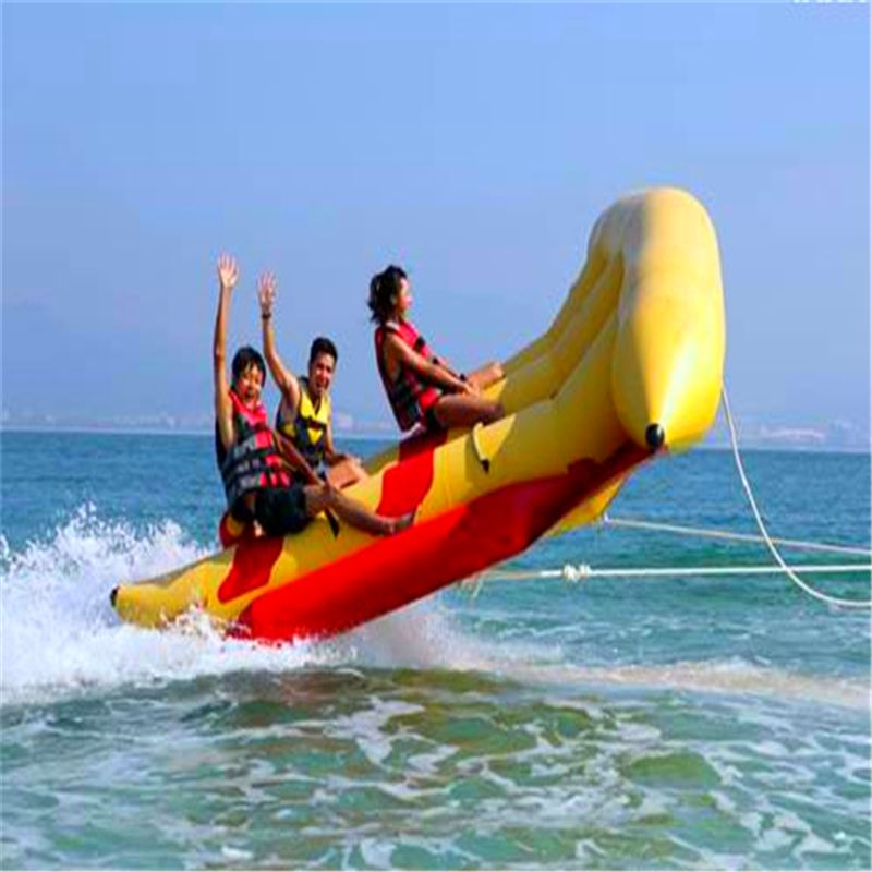 Free Shipping ! [For 6 Players] 2016 New Motor Fish Boat Airship Water Sport Play Equipment Toy Inflatable Flying Banana Boat(China (Mainland))