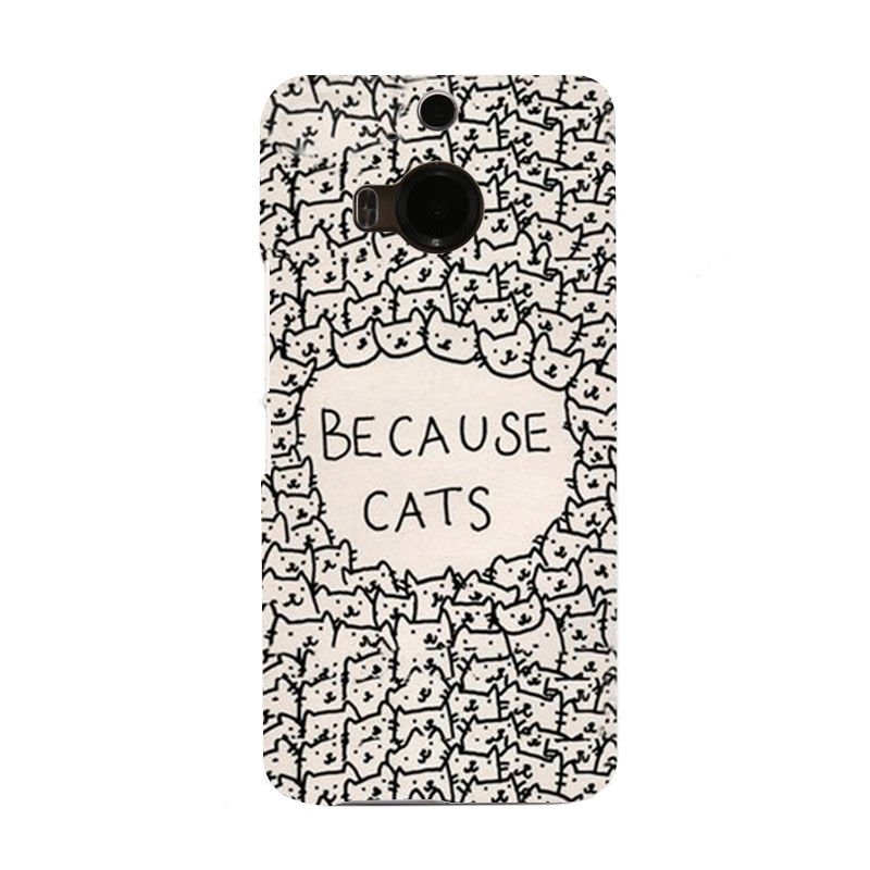 Beause Cats Desire Hard UV Telephone Case for HTC M9 and M9 PLUS(China (Mainland))