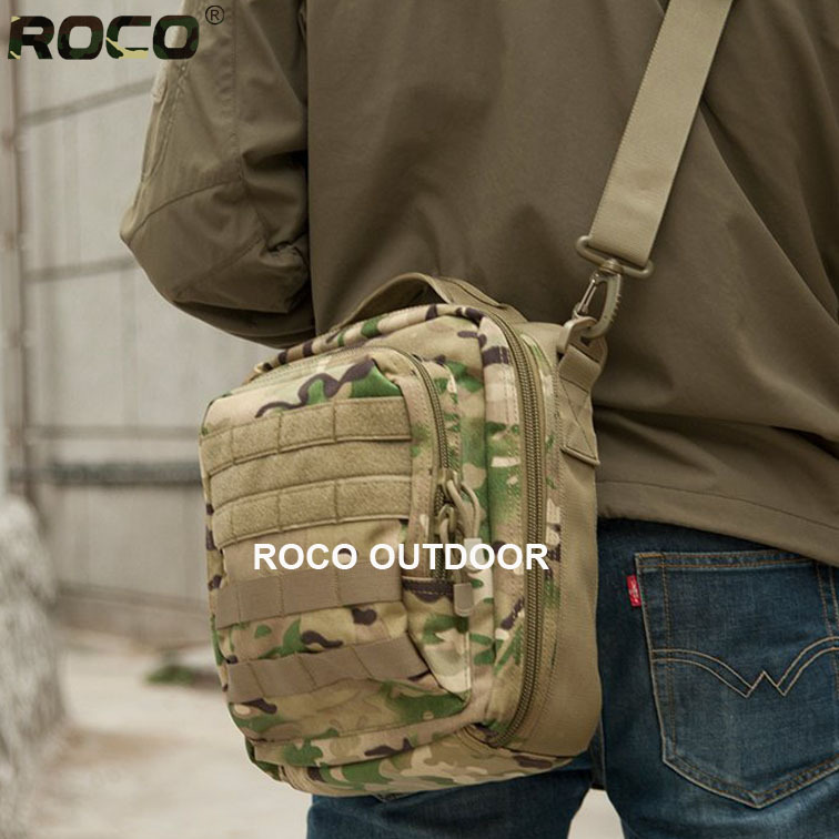 ROCO Cordura Nylon Tactical MOLLE Messenger Bags Multifunctional Military SLR Camera Bags Tactical Lurker Utility Shoulder Bags<br><br>Aliexpress