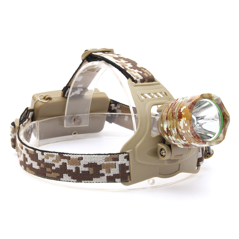 RU 4000LM XM-T6 Led Headlamp Headlight Camouflage led Head Lamp Rechargeable Lantern Lamp Camping Hiking Fishing Light