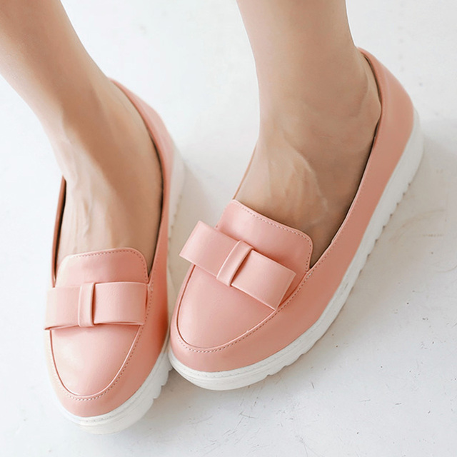 Высокие каблуки платформы каблуки осень круглый носок свободного покроя клинья женщин ...