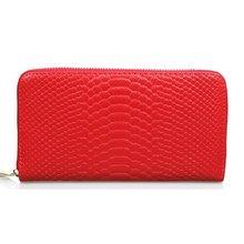 Genuine Leather Zipper long Wallets Women's Snake Pattern Organizer Clutch Wallet 2014 New Fashion Purse Day clutches LD539