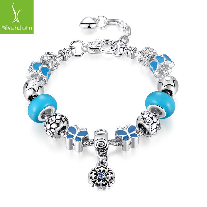 Aliexpress Fashion 925 Silver Charm Opal Beads Bracelet DIY Jewelry for Women Fit Original Bracelets Pulseira Gift(China (Mainland))