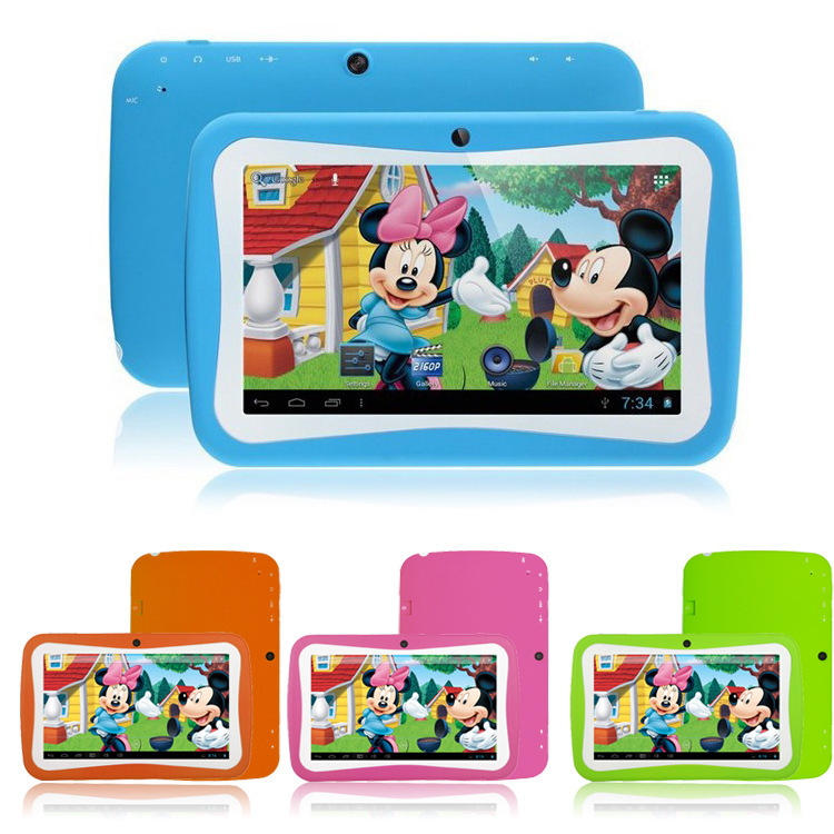 TOP! 7 inch Dual Core Children Kids Tablet PC RK3026 Android 4.2 Games netbook free srop shipping - SportWorld-Park store