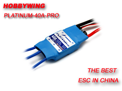 HOBBYWING 40A / 60A 2-6S Electric Brushless Speed Controller (ESC) Type Platinum-40A Free  Shipping