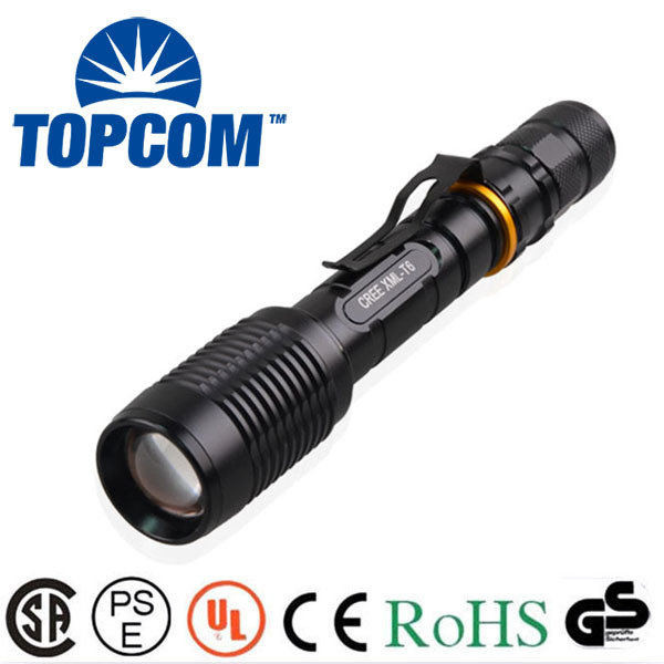 New arrived Zoom 5000 lumen super bright lantern rechargeable 18650 battery Cree XML-T6 Big LED Tactical Police Flashlight Torch(China (Mainland))