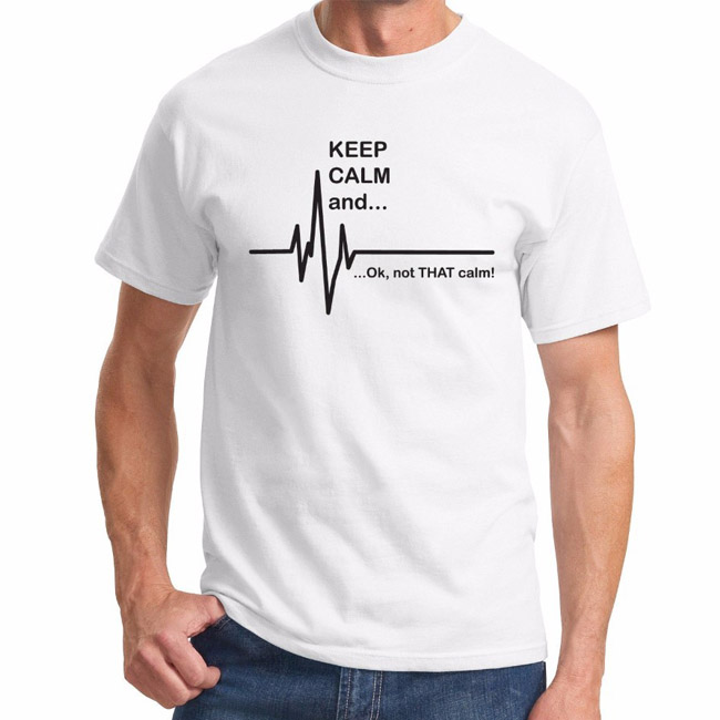 Keep calm and not that calm funny ekg heart rate paramedic nurse t