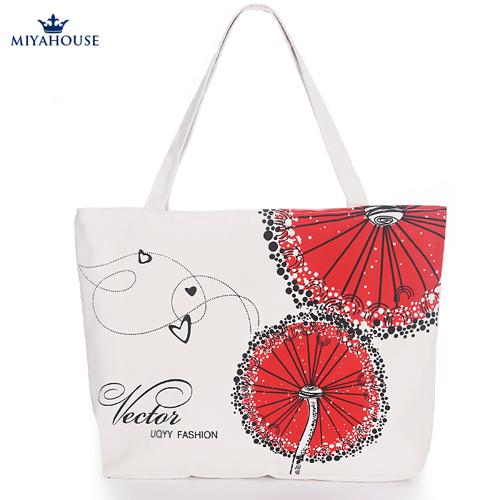 Women Canvas Bag Single Shoulder Shopper Handbag Large Capacity Beach Bag Woven Shoulder Handbags Canvas Women Tote(China (Mainland))