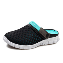 Unisex Mesh Breathable Sandals 2015 Summer Flat Heel Casual Sandals Women Men Couples Beach Flip Flops Slippers New Arrival