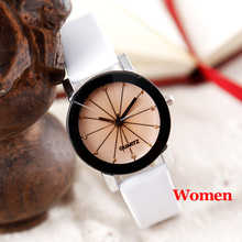 Women Quartz Watches Relogio Masculinos Fashion Dial Time Men Clock Leather Dress Round Case Hour Lovers Watch Bayan Kol Saat(China)