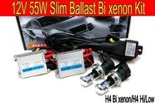 Free shipping12V 55w H4 high/low Brightness xenon/Bi xenon kit HID Conversion Kit 8000K 4300K 10000K car headlight(China (Mainland))
