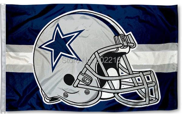 Dallas Cowboys Helmet flag USA NFL Premium polyester Team Football Flag size 3X5FT 150X90CM Banner(China (Mainland))