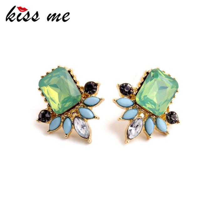 Unusual Flashing Imitation Emerald Opal Women Stud Earrings Fashion Jewelry Factory - KISS ME Official Store store
