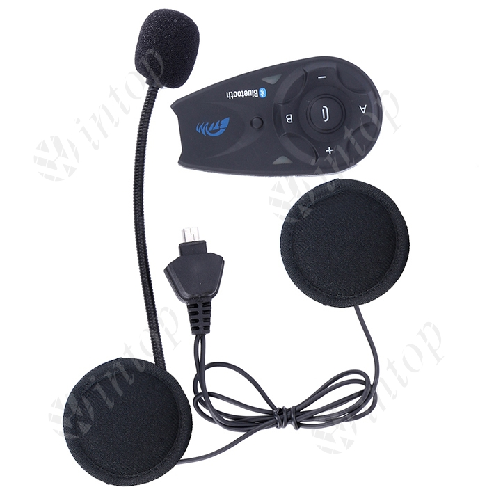 1 pcs V5 Interphone Motorcycle Bluetooth Helmet Intercom Headset Fully Duplex Wireless Communication among 5 Riders with FM(China (Mainland))