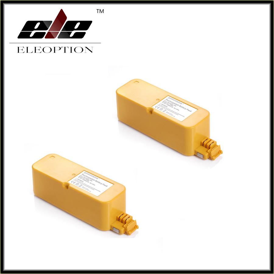2 pcs Eleoption Hot 3500mAh 14.4V NI-MH Vacuum Battery For iRobot Roomba 400 / 4000 / Create/ APC / Discovery / Dirt Dog Battery(China (Mainland))