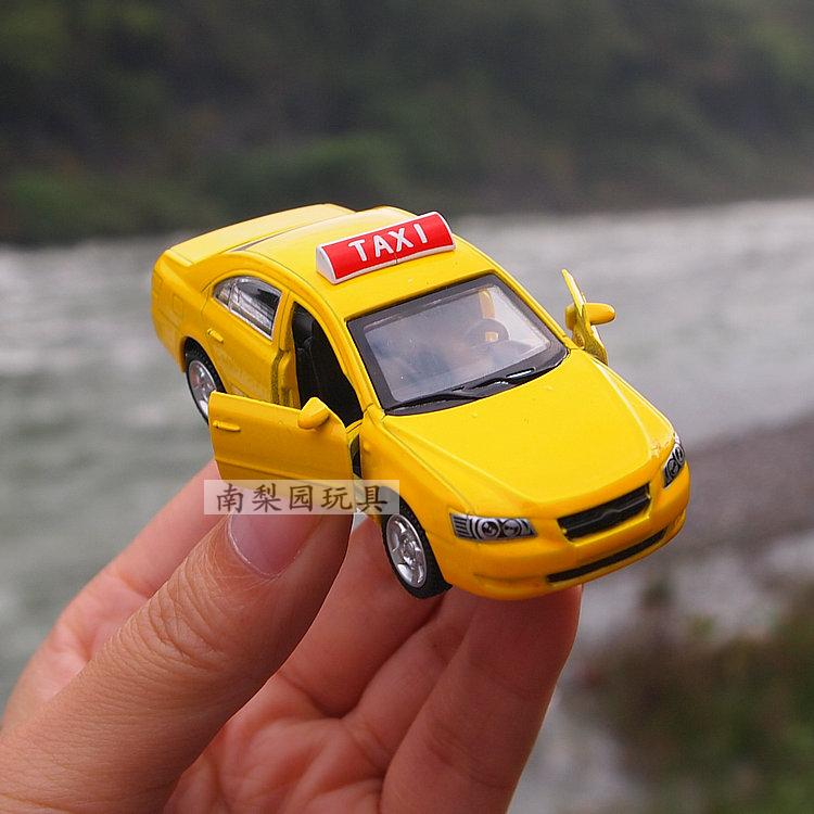 Taxi alloy car model toy car bus barrowload long 8cm(China (Mainland))