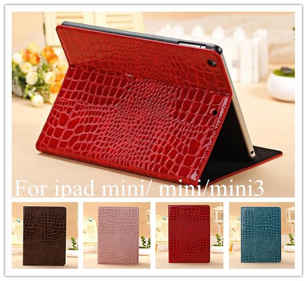 Fashion Slim Crocodile Leather Case iPad Mini 1/2, Smart Cover Apple 2 mini 3 Retina Display - Nordson Digital store