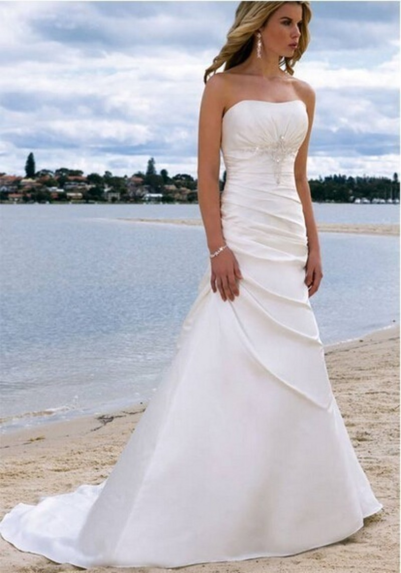 Romantic off the shoulder lace up beach wedding dresses for Lace beach wedding dresses