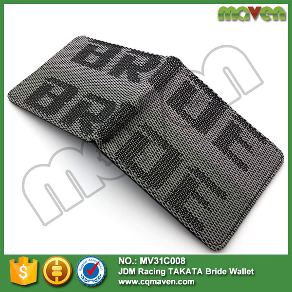 10PCS New Bride Racing wallet with red bride fabric JDM for drift,drag,race,school(China (Mainland))