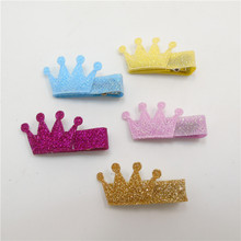 20pc/set Glitter Mini Crown Girl Hair Clip Alligator Pinch Tiara Small Gold Rose Red Yellow Blue Pink Hairpin Grip Cute Barrette(China (Mainland))