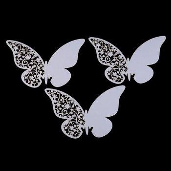 Стиль 10 шт. / комплект бабочка место эскорт вино стекло бумага карта для свадьба ну вечеринку бар клуб