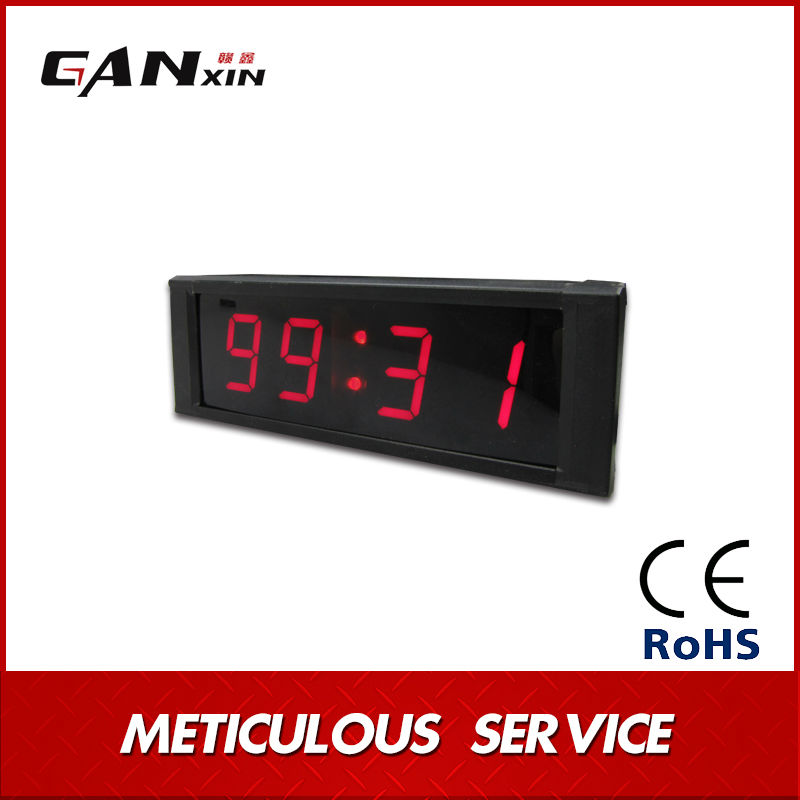 [GANXIN] Hot Sale ! Modern Designed LED Digital Wall Clock for Home Decor AL Frame Remote Control Wall Decorate Clocks(China (Mainland))