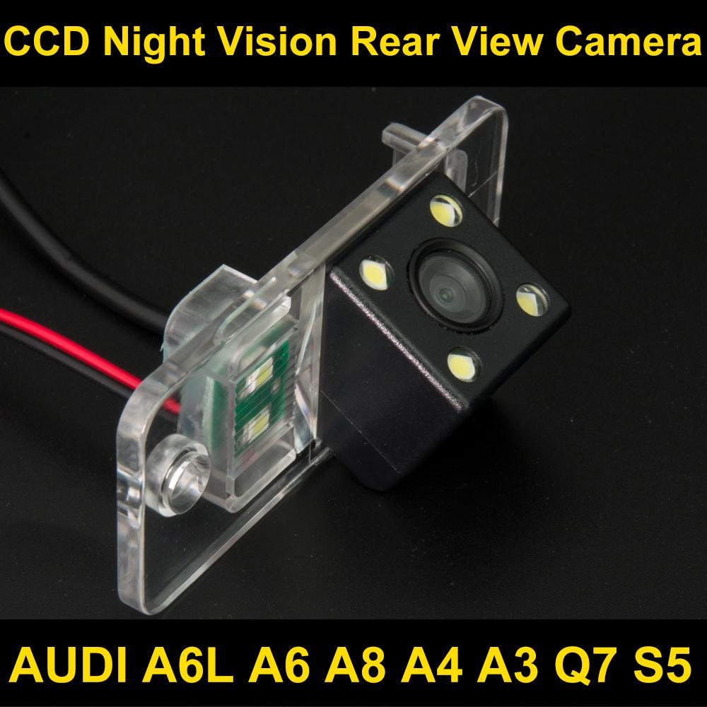 Waterproof 4 LED Car Rear view Camera BackUp Reverse Parking Camera for AUDI A6L A6 A8 A4 A3 Q7 S5 Car reverse camera 8036LED(China (Mainland))
