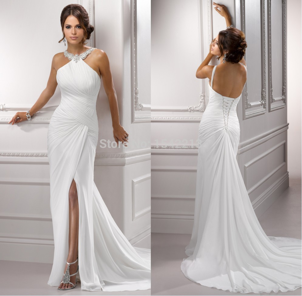 Popular trumpet gown slip buy cheap trumpet gown slip lots for Backless mermaid style wedding dresses