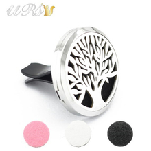 Buy tree life 35mm diffuser stainless steel car aromatherapy locket free pads essential oil car diffuser locket plain face for $4.80 in AliExpress store