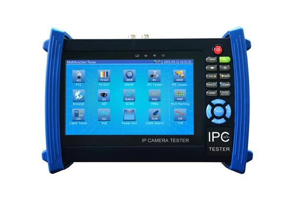"7"" IP camera tester CCTV tester monitor ip cameras HD AHD analog cameras testing cable scan ip revise PTZ 12V2A POE output(China (Mainland))"