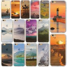 Для Apple , iPhone 6 6 s 4.7 » мобильный телефон назад чехол ультра тонкий мягкие TPU подгонянные цвет пейзажи росписью аксессуары защитник