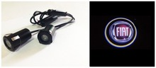 Free shipping 2pcs LED Car door welcome light courtesy led car laser projector Logo Ghost Shadow Light For Fiat logo light(China (Mainland))