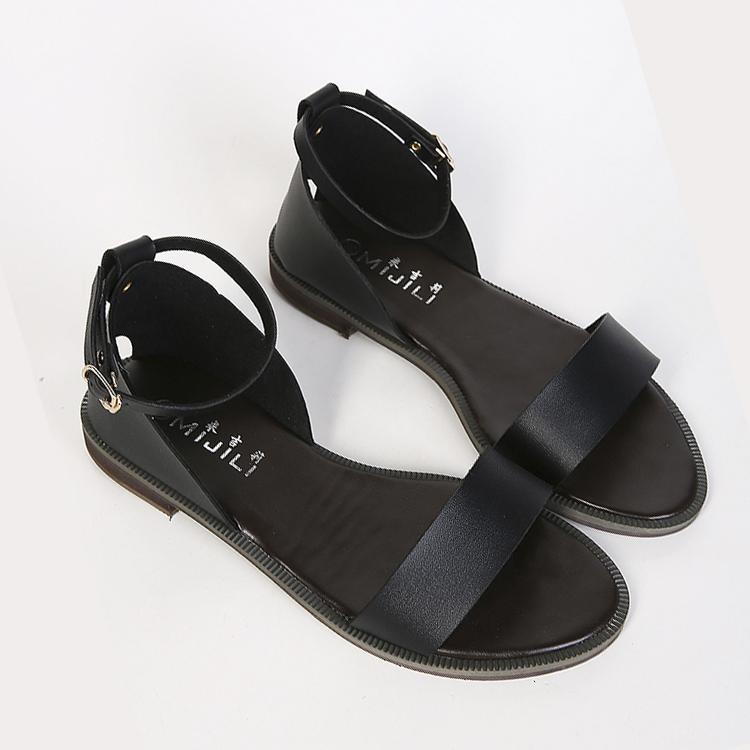 2015 bohemia flat sandals open toe flat heel women's plus ...