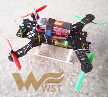 WST DIY mini drone race quadcopter folding 300 frame +cc3d+EMAX MT2204 2300KV motor +BLHeli 12A ESC + Almost ready