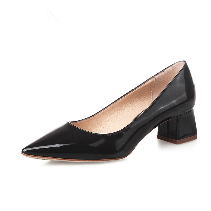 women pumps spring sexy pointed toe high heel pumps sapato feminino casual women shoes black pumps square high heels 2016 DT244<br><br>Aliexpress