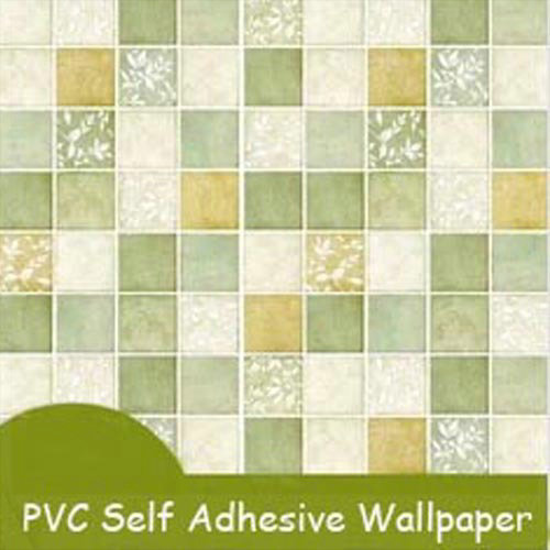 Solid self adhesive mosaic wallpaper for kitchen bathroom for Self adhesive bathroom wallpaper
